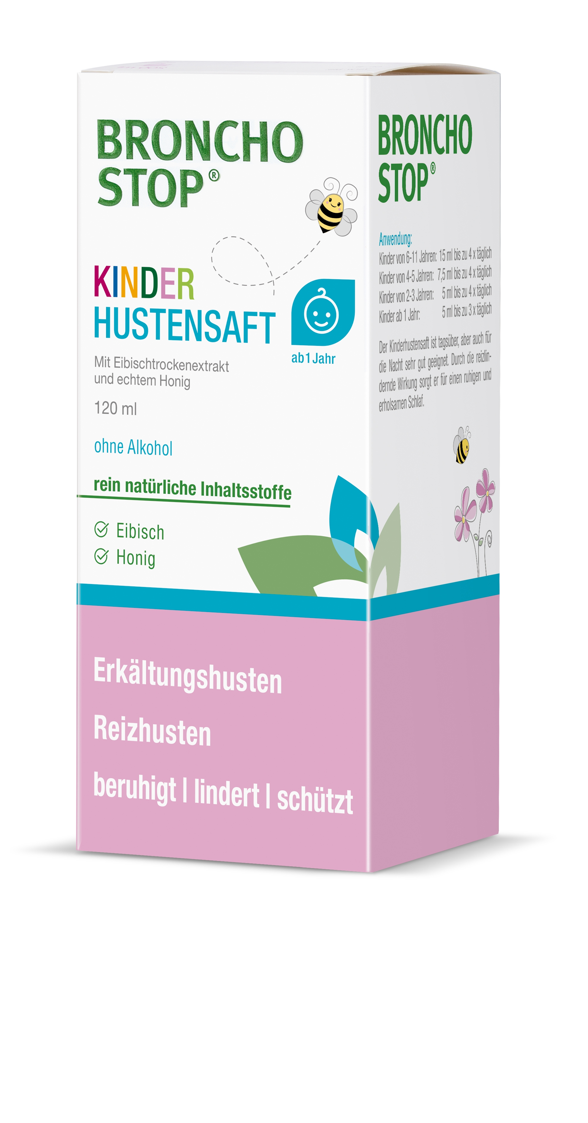 Bronchostop Hustensaft Kinder 120ml links 1806